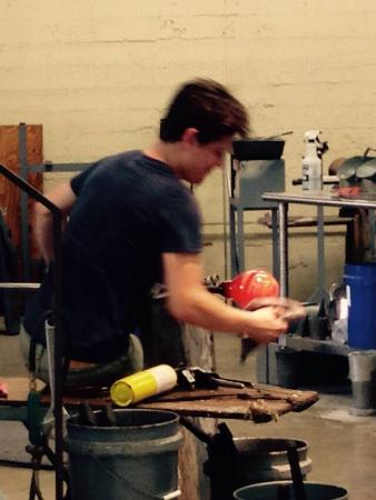 Sunspots Studios & Glassblowing: Watching this artist is mesmerizing!