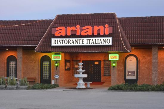 Ariani Restaurant & Lounge: Evening view of front.
