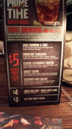 LongHorn Steakhouse : drink and app specials