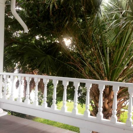 The Ainsworth House Inn: quiet time and coffee on the porch