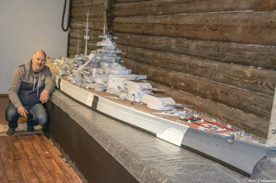 Tirpitz Museum: Tirpitz modell