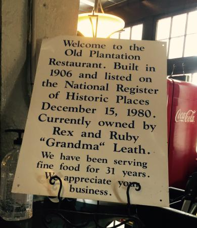Old Plantation: A Bit Of History