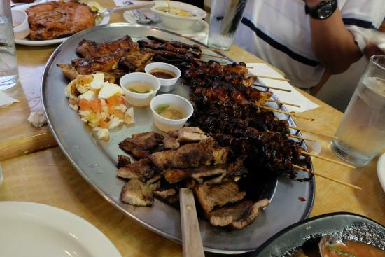 Salo-Salo grill: A platter of meat