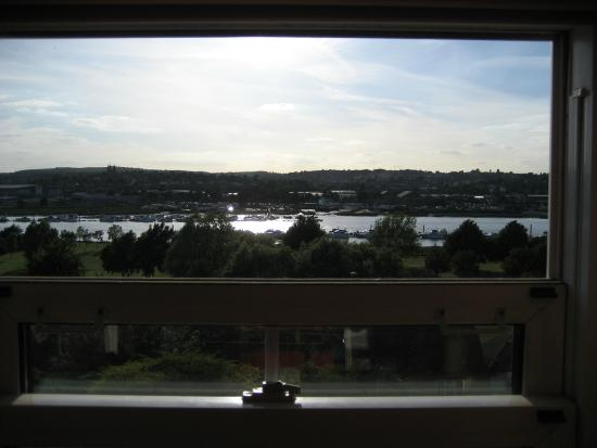 Medway Little Townhouse: View from our room looking out towards the River Medway