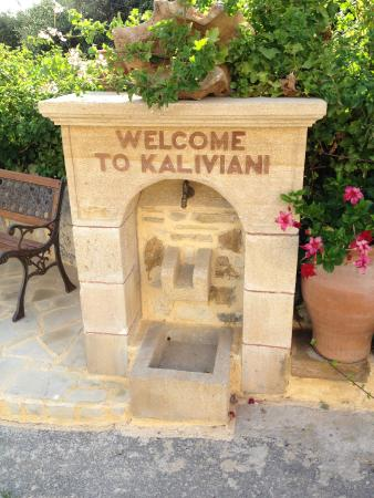 Kaliviani Traditional Hotel: welcome sign