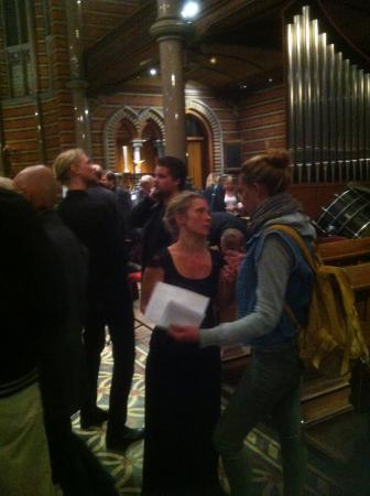 All Saints Church, Lund: Efter konserten mingel