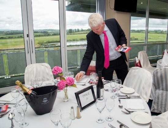 Limerick Racecourse: Woodlands Catering putting the finishing touches to the panraomic restaurant at Limerick Racecou