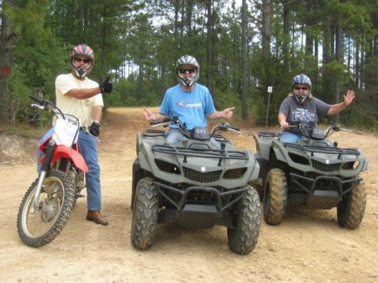 Carolina Adventure World: Honda 230 and the Suzuki ATVs.