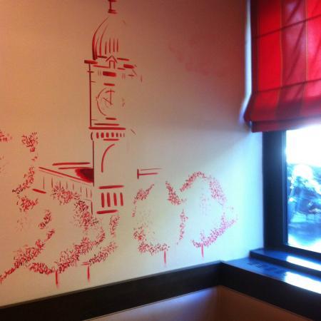Hotel Jules Cesar : decoração salão de café