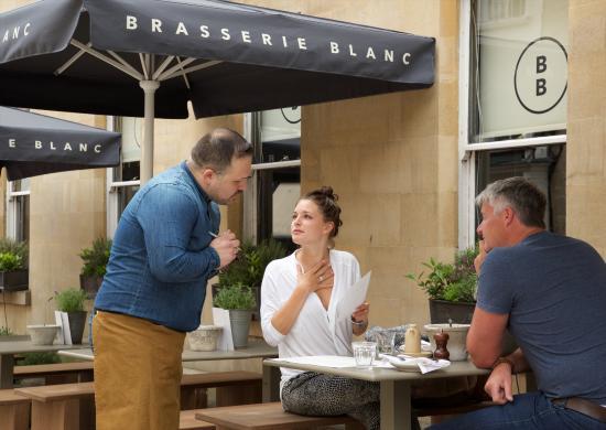 Brasserie Blanc: Al fresco dining