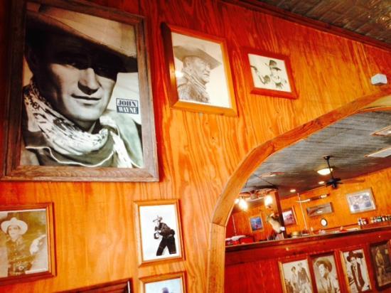 OST Restaurant: John Wayne on the walls in this restaurant in Bandera