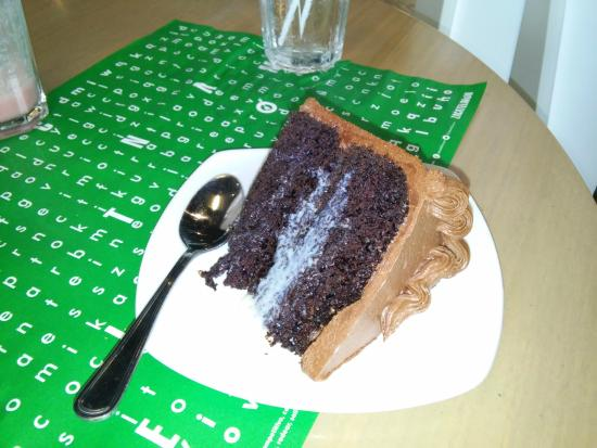 Zacatelimon: Chocolate cake with a milk center. Make it even better with Ice Cream .