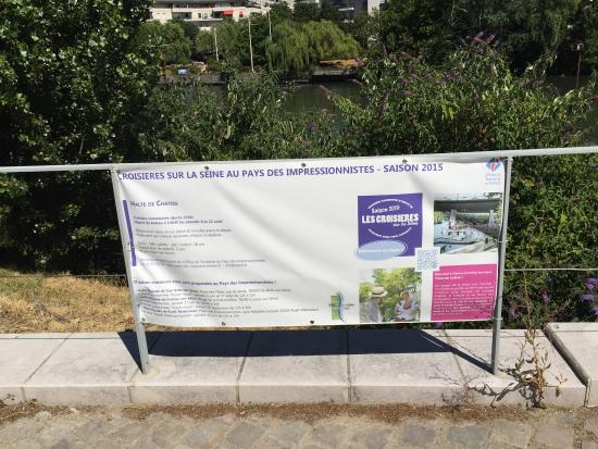 Impressionists Island: Points of reference if you are walking from the Chatou RER
