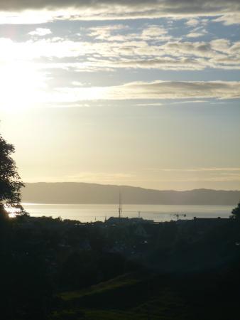 Singsaker: Uitzicht vanuit de kamer op de fjord.