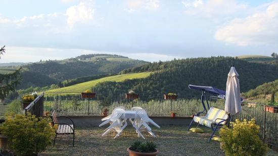 Podere Val di Gallo: terrazzo panoramico