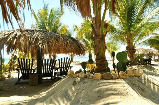 Cabañitas Buena Onda : espace détente entre l'océan et les cabanas