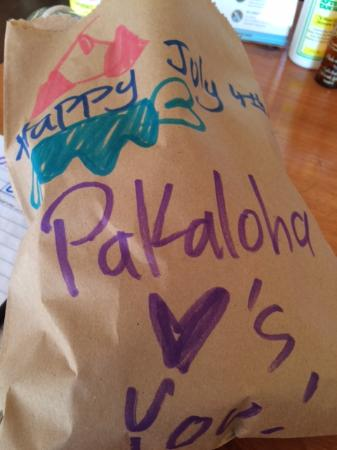 Paia, HI: My hand decorated bag!