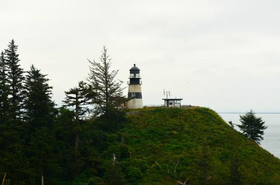 Ilwaco, WA: The Cape Disappointment Lighthouse..over watching the Columbia River bar