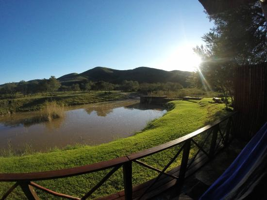 Nyaru Private Game Lodge: The beautiful view from the patio