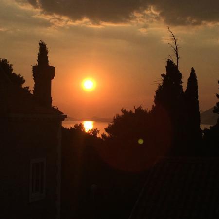 Villa Voinic: Balcony View (Sunset)
