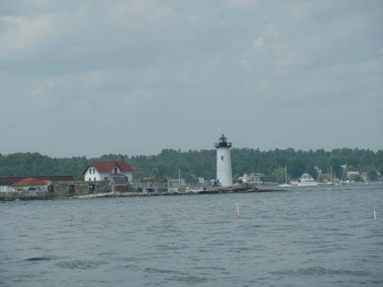 Portsmouth Harbor Cruises: One of the lighthouses you can see from the boat