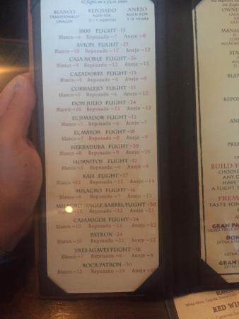 Xochitl: The flight tasting menu...read between the lines here