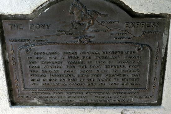 Silver Springs, NV: Pony Express -- Fort Churchill