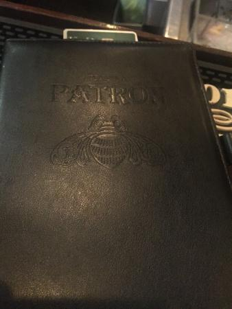 Xochitl: Besides the pateon branded drinks and bar signage, theres even patron branded bill folders...mig