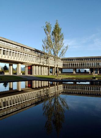 Simon Fraser University: The Quad from the inside