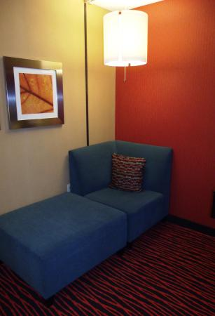 Holiday Inn Colorado Springs (Airport): Love the retro lamps & tiger stripe carpet
