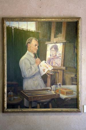 Taos Art Museum: Portrait of Nicolai Fechin (by Clyde Forsythe)