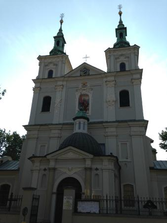St. Florian's Church: 入り口上部の像が