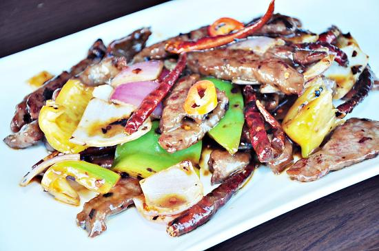 Edge Hill, Australien: Stir Fry Beef in Sichuan Sauce