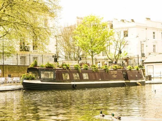 Narrow boat Grand Union Canal Camden London UK Photograph