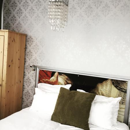 Bed & Breakfast Helmers: Our lovely room, with a kitchenette stocked with food, a nespresso machine, and also some views