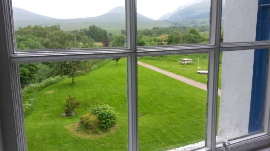 Corriechoille Lodge : View from our room, #3. The other window had a view of the garden across from the main entrance.