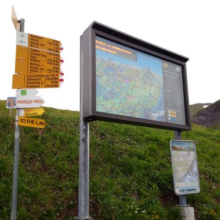 Grindelwald, Switzerland: The path to Bachalpsee is the only easy-level hike, as seen.