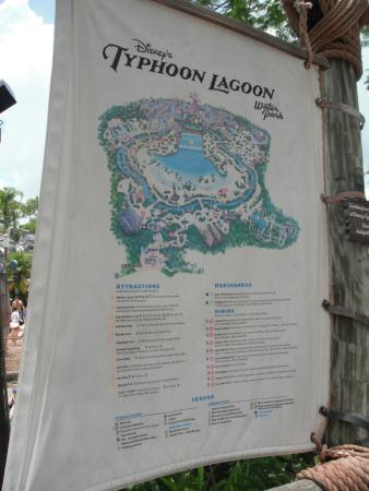 Walt Disney World - Typhoon Lagoon - Park Map - Bild von Typhoon ...