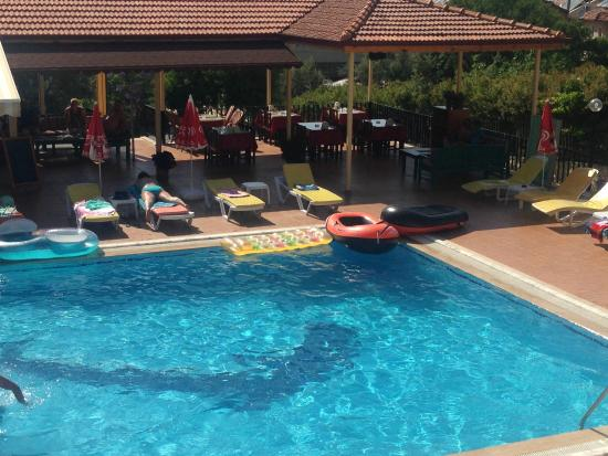 Villa Turk Apartments: pool and restuarant