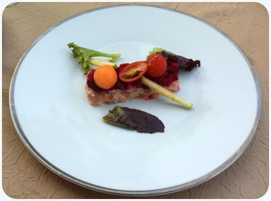 Daglan, Γαλλία: Carpaccio de saumon