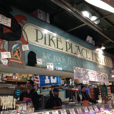 Flying fish picture of pike place market seattle for Flying fish seattle
