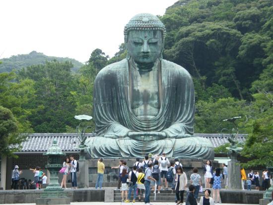 Famous Great Buddha Bronze Statue In Kamakura, Kotokuin Temple ...