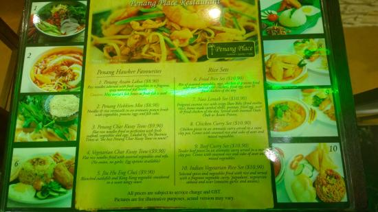 The ala carte menu... most folks just take the buffet :) - Picture ...