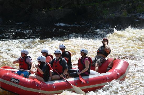 Wildman Adventure Resort: Rafting on the Menominee