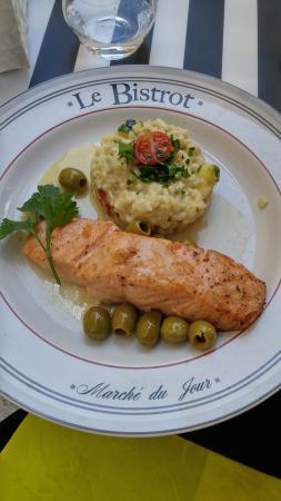 Le Bistrot Bourguignon : Salmon with risotto