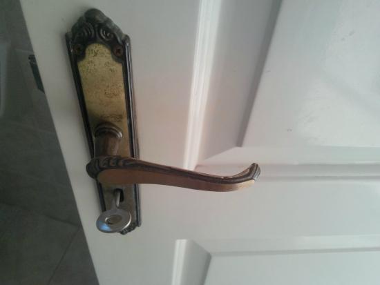 Christina Studios: The bathroom door