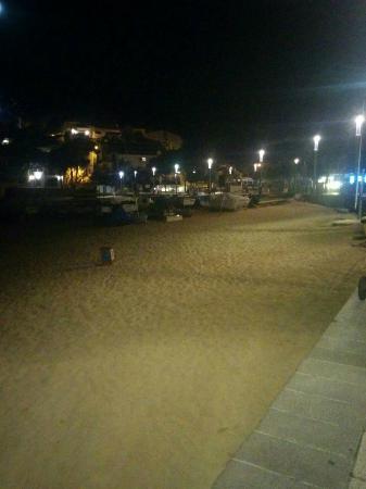 Hotel la caleta de Tamariu: La playa de Tamariu, de noche