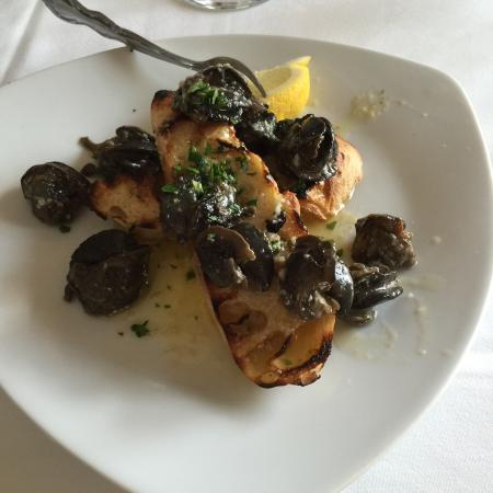 Pleasant Valley Inn : Escargot, scallops and snapper. All wonderful.
