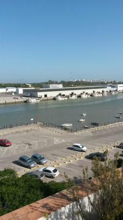 Los Jandalos Santa Maria: Vista del río Guadalete desde la piscina en la azotea