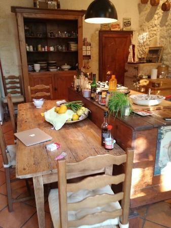 Les Logis de Lestiac: Kitchen